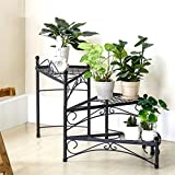 AIDELAI Iron Flower Racks Multiple Layers Living Room Shelf Creative Rotatable Storage Rack Patio Garden Pergolas