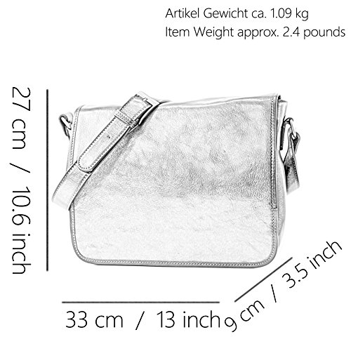 Shoulder Leather Handbag 3 Italian Fashionfashion Leather Of Bag Handbag Medium A001 Models Braun A001 Sizes 0qtE0Xnw