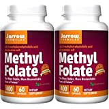 Jarrow Formulas Methyl Folate 5-MTHF, 400 Mcg (60 x 2)