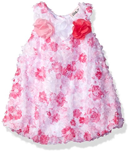 - Little Lass Baby Girls' 1 Pc Floral Lace Bubble Sunsuit, Pink, 9M