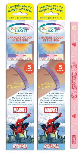 Sunscreen Bands Spiderman, 10 Count