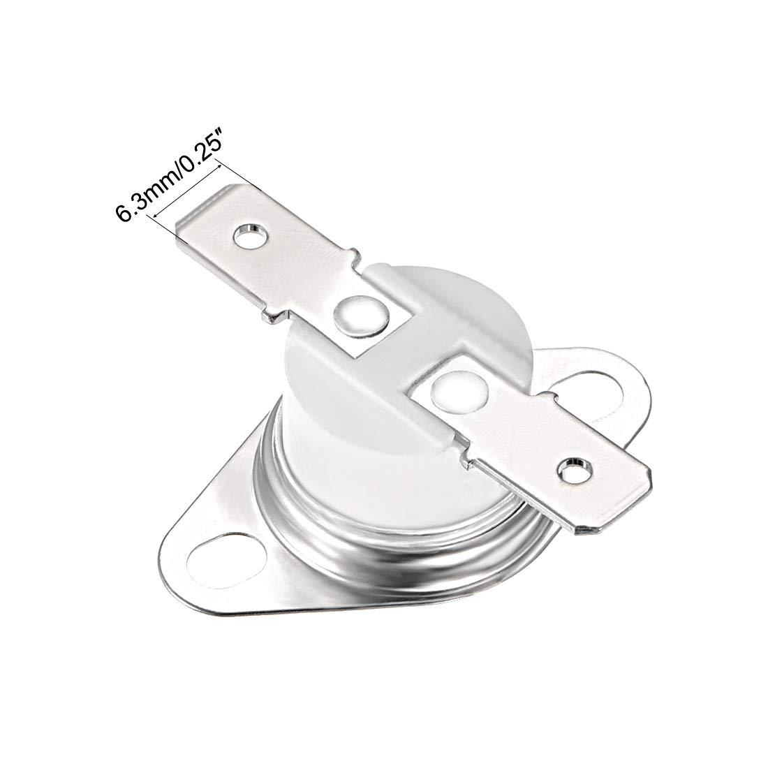 termostato Interruptor de control de temperatura 135 Sourcingmap KSD301 10A 2 unidades N.C normalmente cerrado 6,3 mm