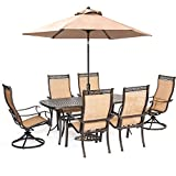 Manor 7-Piece Dining Set 2 Swivel Rockers