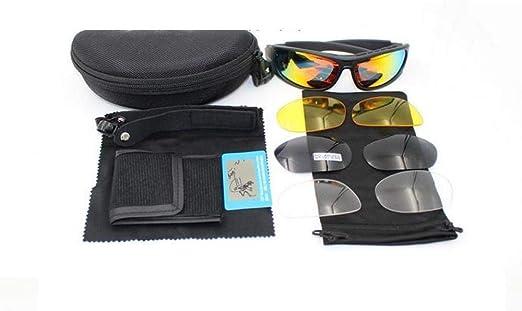Gafas De Sol Polarizadas Con Gafas Militares Con 4 Lentes Para Ciclismo Al Aire Libre Caza Y Tiro Para Adultos Hombres Y Mujeres,A: Amazon.es: Hogar