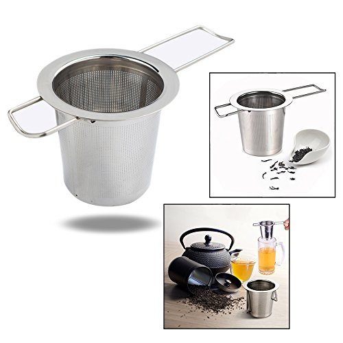 OFKPO Stainless Steel Tea Infuser Steeper Strainer Filter for Leaf Grain Tea Cup, Mug, Teapot
