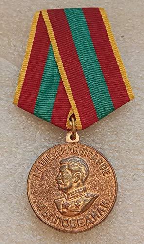 We Won For Valiant Labor WW II WW2 Original USSR Soviet Union Russian military Communist Bolshevik Medal