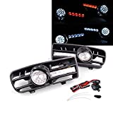vw gti mk4 fog lights - A Pair Daytime New Running Light Lamp + Lower Gille + Fog Light for 1999-2004 Volkswagen Vw Golf GTI / TDI Mk4 1999 2000 2001 2002 2003 2004