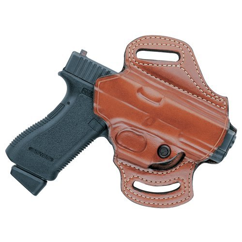 Aker Leather 168A FlatSider XR13 Open Top Belt Holster for Sig Sauer P229, Black, Right Hand ()