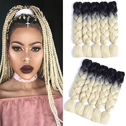 5pcslot ombre braiding hair extensions 24� high