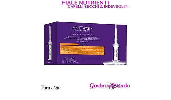 FARMAVITA AMETHISTE HYDRATE LUMINESCENCE NUTRI LOTION 12 x 8 ml Ampollas hidratantes: Amazon.es: Salud y cuidado personal