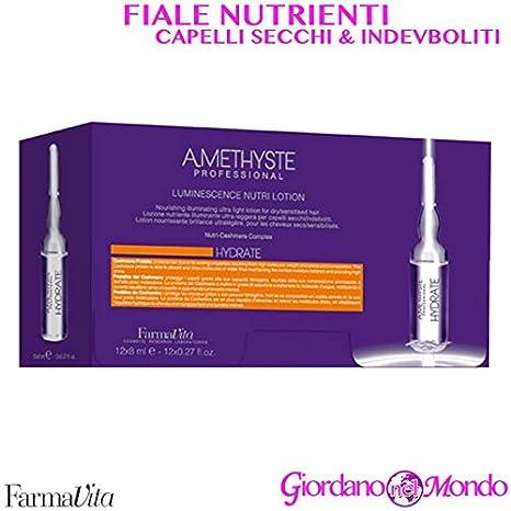 FARMAVITA AMETHISTE HYDRATE LUMINESCENCE NUTRI LOTION 12 x 8 ml Ampollas hidratantes