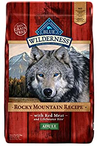 BLUE Wilderness Rocky Mountain Recipe Adult Grain-Free Red Meat Dry Dog Food 22-lb