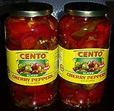 Cento Premium Sliced Hot Cherry Peppers, LG QUART Size , 32 OZ (2 Pack)