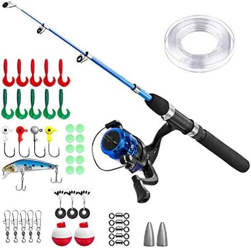Kids Fishing Pole,Light and Portable Telescopic Fishing rod for Youth Fishing Full Kit