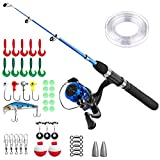 Kids Fishing Pole,Light and Portable Telescopic Fishing Rod and Reel Combos for Youth Fishing by PLUSINNO