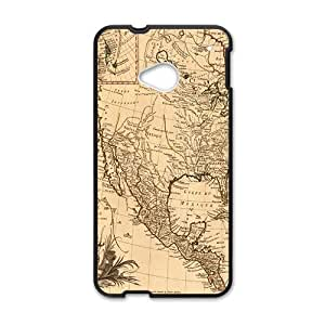 Ancient Map Buried Treasure Black HTC M7 case