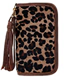 Double J Saddlery Jaguar Print Hair Leather Clutch Organizer Wristlet CO168