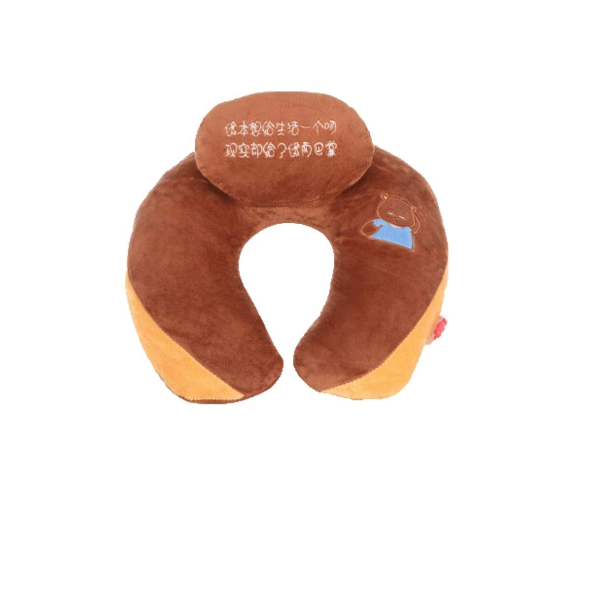 Huijun Style, U-shaped Pillow, The Latest U-shaped Pillow, Neck-protecting Aircraft, Train Pillow, Nap Neck Pillow, Travel Neck Pillow U-shaped, U-shaped Pillow (Color : Brown)