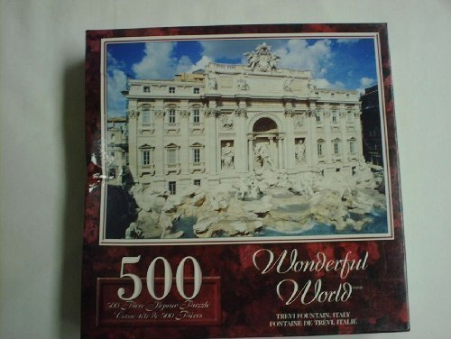 Wonderful World 500 Piece Puzzle-Trevi Fountain, Italy by Sure-Lox