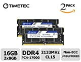 Timetec Hynix IC 16GB KIT (2x8GB) DDR4 2133MHz PC4-17000 Non ECC Unbuffered 1.2V CL15 2Rx8 Dual Rank 260 Pin SODIMM Laptop Notebook Computer Memory Ram Module Upgrade (16GB KIT (2x8GB))