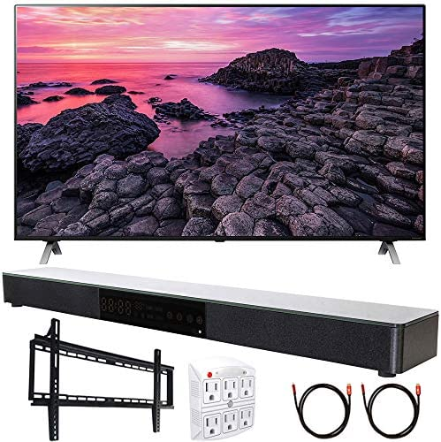 "LG 65NANO90UNA 65"" Nano 9 4K UHD TV AI ThinQ (2020) with Deco Gear Soundbar Bundle"