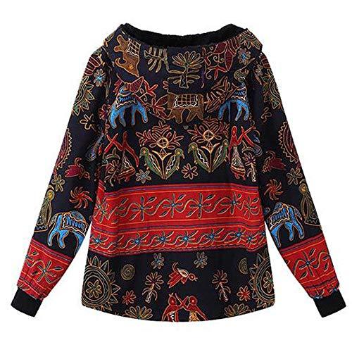 pais Longue Multicolore Magiyard Manteaux Fermeture Manteau Ancien Femmes Encapuchonn Dames Toison Plus Taille clair Manche xqwqz1Ia