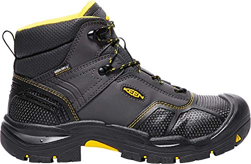 (Keen Utility - Men's Logandale (Steel Toe) Waterproof Work Boot, Raven/Black, 11.5 EE)