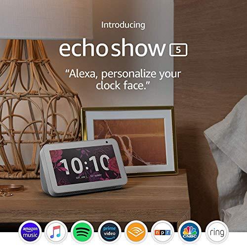 Certified Refurbished Echo Show 5 (1st Gen, 2019 release)– Compact smart display with Alexa - Sandstone