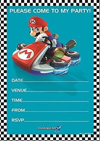 20 Party Invitations Mario Kart Birthday Party By Nintendo