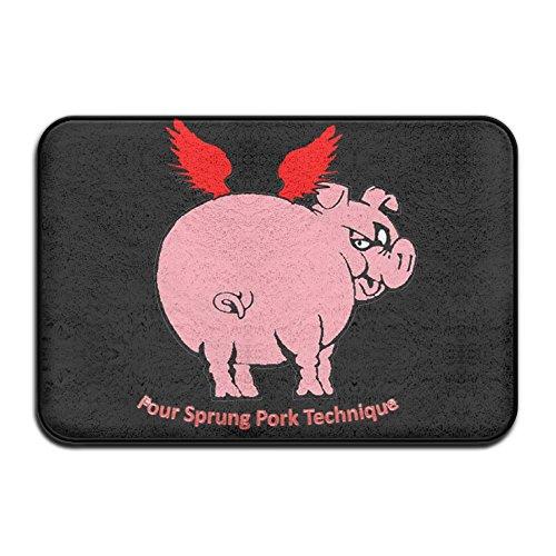 Flying Pig Four Sprung Pork TechniqueDoormat Entrance Mat Floor Mat Rug Indoor/Outdoor/Front Door/Bathroom Mats Rubber Non Slip (Sprung Floor)