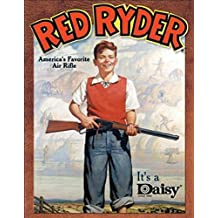 Daisy Red Ryder America's Favorite Air Rifle Retro Vintage Tin Sign - 13x17