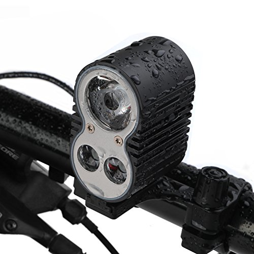 Price comparison product image Bike Headlight, GVDV 1600 Lumens Bike Light with Rechargeable 10400 mAh Battery, 5 Lighting Modes, Can Charge Smartphone or GPS and Be Powered by Power Bank