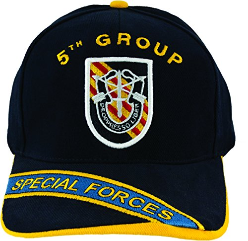 5th Special Forces Group Flash with SF Unit Crest Hat with Embroidered Bill 5th Special Forces Group