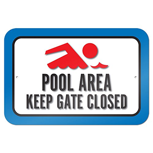 Pool Area Keep Closed Metal