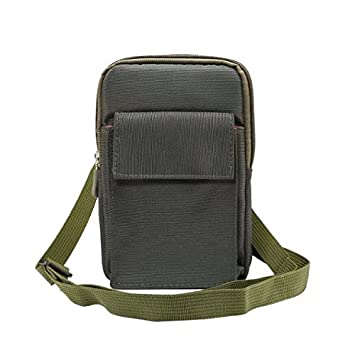 LARRITS Multifounctional 6.4   Outdoor Mini Crossbody Small Messenger Bag  Waist Fanny Pack with Shoulder Strap and Hock e1fff6715d90d