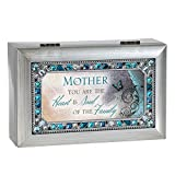 Cottage Garden Mother You Are Jeweled Silver Finish Jewelry Music Box - Plays Tune Wind Beneath My Wings