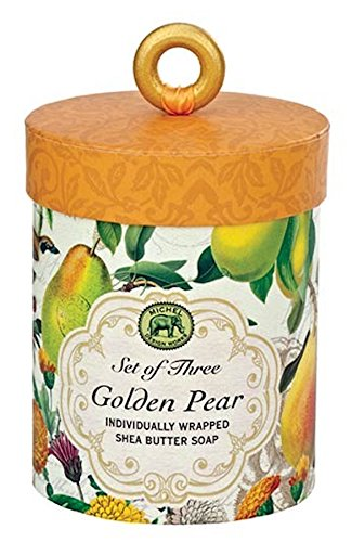 Triple Milled 3-Piece Shea Butter Soap Gift Set, Golden Pear ()