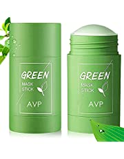 2 Pack Green Tea Purifying Clay Stick Mask, Exfoliating Mask, Removes Blackheads And Deep Cleansing Oil Control, Suitable for All Skin Types