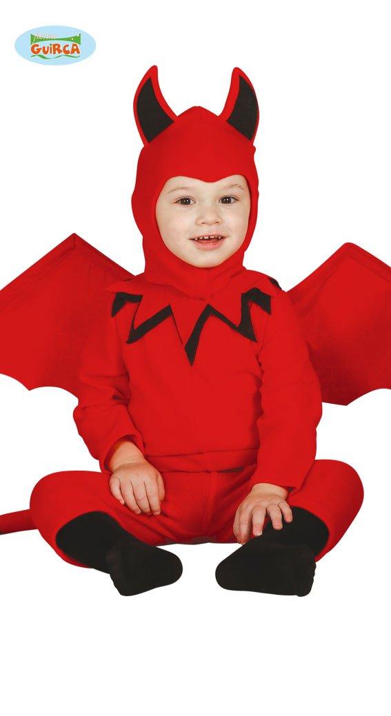 Baby Teufel mit Flügeln Halloween Horror Party Kostüm Rot für Babys Gr. 74-92, Größe:86/92 Größe:86/92 Guirca