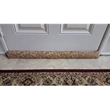 Monikas Marketplace Handmade 37-Inch Under-Door Draft Stopper (1.4 lbs.) with Hanging Cord and Storage Bag, Brown