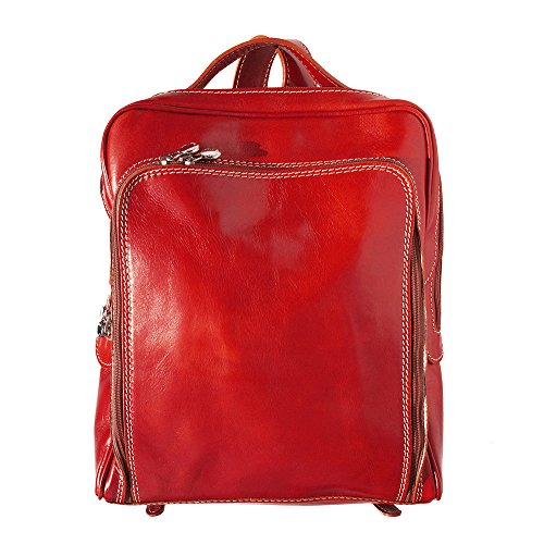 flat unisex Backpack purse Red 6538 UwCHq