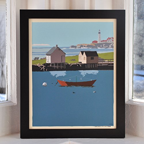 Print (8x10 Giclee Poster, Wall Decor Art) (Lobster Portland Maine)