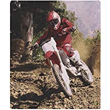 "CafePress - Motocross Rider Sprays Rocks - Soft Fleece Throw Blanket, 50""x60"" Stadium Blanket"
