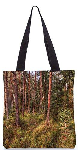 """Snoogg Abstrakte Bäume Tragetasche 13,5 X 15 In """"Einkaufstasche Dienstprogramm Trage Aus Polyester Leinwand"""