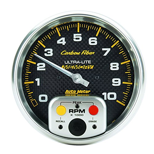 Carbon Fiber Water Mechanical (Auto Meter 4894 Carbon Fiber Electric In-Dash Tachometer)