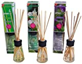 Greenair Aromatherapy Reed Diffusers, 2.7-Ounce Containers, Set Of 3 Assorted Scents (lavender, Jasmine And Lemongrass)