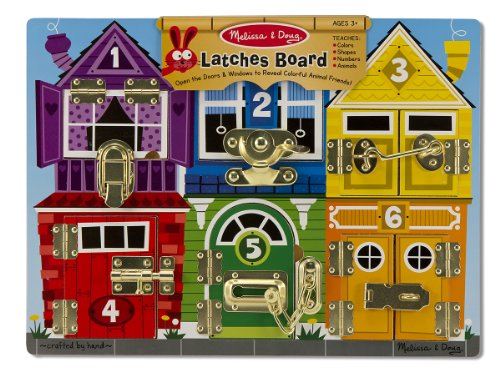 Melissa & Doug Latches Board Frustration-Free Packaging Skill Builders Toy (Board Game Free Ship)