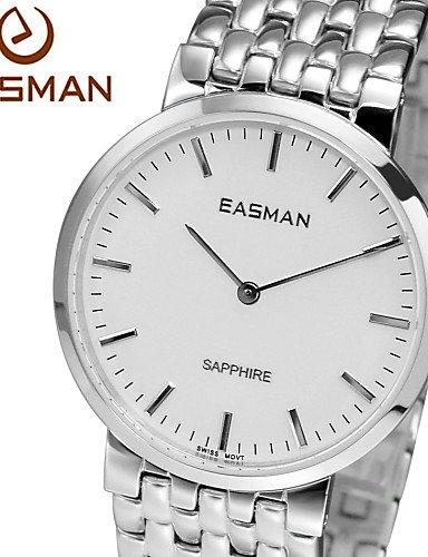 qfdzhs® marcas easman diseñador Saphir ultra-minces de vidrio authentiques relojes para hombres de la Suiza reloj de movimiento para los hombres: Amazon.es: ...