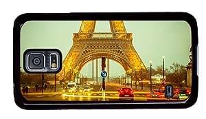 Hipster Samsung Galaxy S5 Case fancy paris eiffel tower evening PC Black for Samsung S5