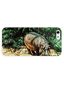 3d Full Wrap Case For Iphone 6 4.7 Inch Cover Animal Hippo Drinking Water